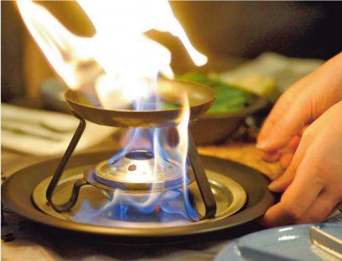 Fondue, gourmet of teppanyaki met kerst
